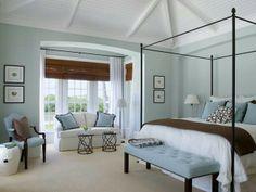 Blue & brown bedroom