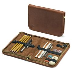 This beuaitful leather writing case is just one of dozens of gorgeous, useful, classic office pieces available from Manufactum. From writing tools, desk accessories to organization and other items, this site is the mecca of office beauty.  (via Manufactum)