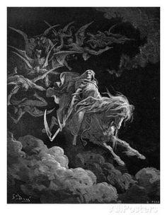 Revelation: Vision of Death reproduction procédé giclée par Gustave Doré sur AllPosters.fr