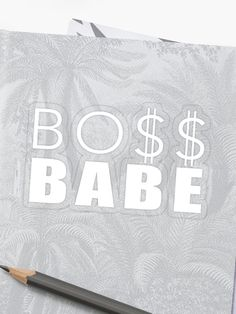 'Boss Babe - Girl Woman Boss' Sticker by Drugaya Boss Babe, Sell Your Art, Sticker Design, Stickers, Woman, Blue, Collection, Women, Decals