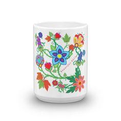 """""""Flowing Floral"""" coffee mug"""