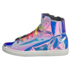 Im metallisch schimmernden, futuristischen Design zeigen sich diese nat-2 220 bpm Sneakers, deren Futter und Decksohle aus Leder besteht. An der Schuhinnenseite befindet sich ein Reißverschluss.