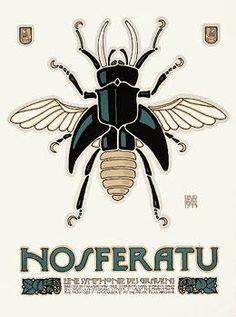 Nosferatu Movie Poster by David Lance Goines