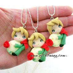1 necklace  petit prince Little prince ooak made par AlchemianShop