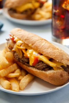 Philly cheese steak w/o onions or processed cheese!