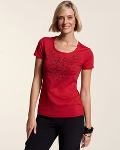 Chico's Women's Zenergy Chico Tech Chamile Embellished Tee