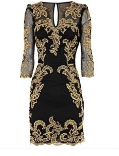 Baroque Dress from Karen Millen with length sleeve, that flatter any bingo wings. Yours with a off from Karen Millen - with our code. Cute Fashion, Look Fashion, High Fashion, Moda Indiana, Baroque Dress, Looks Style, My Style, Look 2015, Baroque Fashion