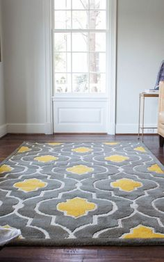 1576122214 how to choose the right type of area rug or carpet living living room rugs grey and yellow - Living Room Ideas Bathroom Colors Gray, Yellow Bathrooms, Bedroom Colors, Bedroom Yellow, Baby Bedroom, Bedroom Ideas, Bedroom Decor, Bathroom Gray, Bedroom Rugs
