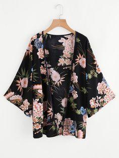 Shop Botanical Print Kimono online. SheIn offers Botanical Print Kimono & more to fit your fashionable needs.