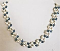 Lovely design - made with pearls and onyx for silent auction
