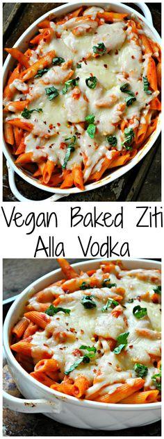 Vegan Baked Ziti Alla Vodka - Rabbit and Wolves