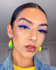 eye makeup, eye makeup look, eye makeup creative,creative makeup looks, creativ. - Make up - Eye Makeup Makeup Eye Looks, Skin Makeup, Eyeshadow Makeup, Neon Eyeshadow, Metallic Lipstick, Makeup Trends, Makeup Ideas, Makeup Jobs, Eye Makeup Designs