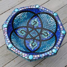 Image result for mosaic patterns for birdbaths
