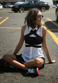 Laura from All Things Black in the Nasty Gal Strapped for Sass Crop Top in Black || Get the top: http://nastygal.com/clothes-tops-cropped/nasty-gal-strapped-for-sass-top?utm_source=pinterest&utm_medium=smm&utm_term=ngdib&utm_content=nasty_gals_do_it_better&utm_campaign=pinterest_nastygal