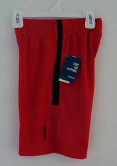New PlayDry Red Reebok Boy's Althetic Sports Gym Shorts Size 6 #Reebok #Everyday