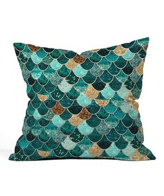 Look what I found on #zulily! Monika Strigel Really Mermaid Fleece Throw Pillow by DENY Designs #zulilyfinds