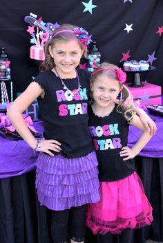 "Photo 1 of Rock Star Birthday / Birthday ""Halle's Rockstar Party"" Music Theme Birthday, Rockstar Birthday, Dance Party Birthday, Little Girl Birthday, Birthday Parties, 8th Birthday, Birthday Ideas, Music Party, Birthday Stuff"