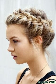 Braided Hair Style Waves and Curls