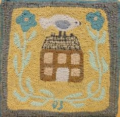 Rug hooking handmade finished rugs for sale. Rug hooking wool created by  hand from thrift store finds. Used for decorative rug hooking pieces in the  home.