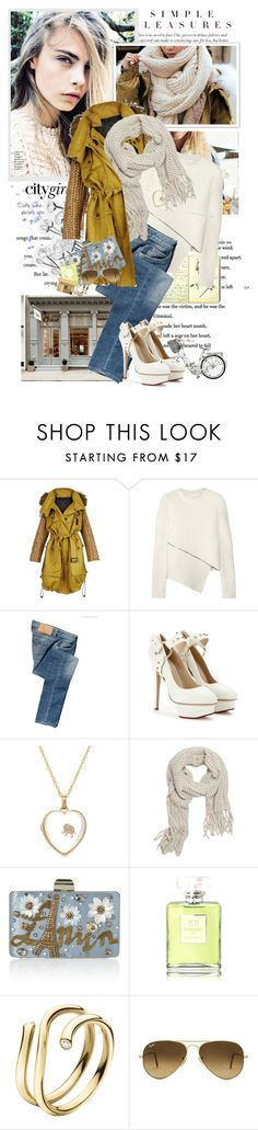 """Knit scarf"" by artifashion-intelligence ❤ liked on Polyvore featuring KEEP ME, Moleskine, Burberry, Alexander Wang, Calvin Klein Jeans, Charlotte Olympia, Loquet, With Love From CA, Lanvin and Chanel"