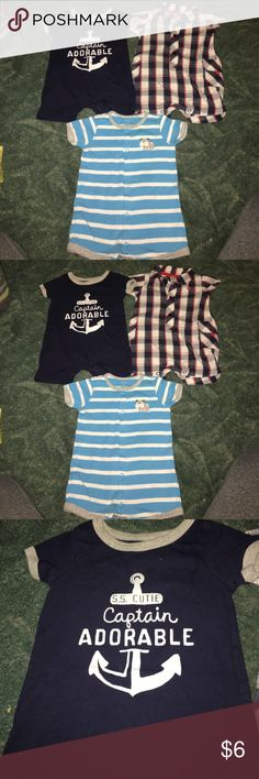 3 Carter's 3 month rompers 3 Carter's 3 month rompers. Smoke free and pet free home. Carter's One Pieces