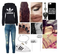 """""""casual wear"""" by princessreigns ❤ liked on Polyvore featuring MICHAEL Michael Kors, adidas, TNA, Casetify, Beats by Dr. Dre, West Coast Jewelry and adidas Originals"""