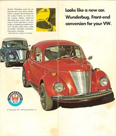 """The """"Wunderbug"""" conversion was a kit for Standard Beetles sold by Lieffring Industries in Missouriand it consisted of a new hood and side panels that gave the Beetle the look of a 1937 Ford...."""