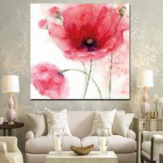 painting living rooms HD Print Modern Red Poppies Abstract Oil Painting on Canvas Modern Pop Art Wall Picture For Living Room Sofa Cuadros Decoracion Flower Painting, Contemporary Abstract Art, Oil Painting Flowers, Poppy Painting, Oil Painting On Canvas, Acrylic Painting Flowers, Oil Painting Abstract, Acrylic Wall Art, Pop Art