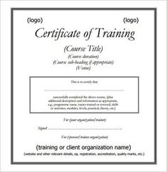 Marvelous Training Certificate PDFs Template , Free Training Certificate Template And  Designing One Yourself For Easy ,  Certificate Of Training Template