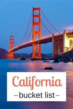 Our things to do in California bucket list
