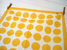 yellow polka dots.