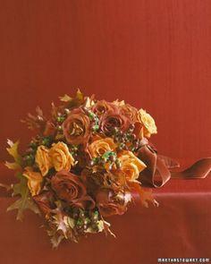 Orange Bouquets | Martha Stewart Weddings Inspiration!!! Beautiful wedding bouquets!!! Perfect bridal bouquet for a dream wedding.   www.my-best-friends-wedding.com