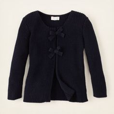 uniform chunky knit bow sweater, what a cute lil sweater for those shorter sleeved dressed or shirts!