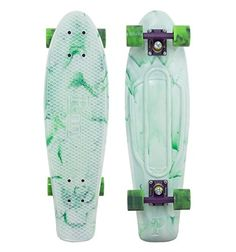 Discount Best Penny NICKEL Limited Edition Plastic Skateboard MARBLE White/Purple/Green Swirl 27 - http://brazilequipment.com/best-penny-nickel-limited-edition-plastic-skateboard-marble-whitepurplegreen-swirl-27/