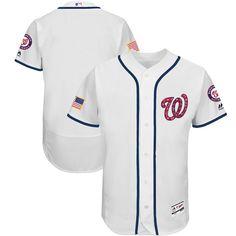 b36cbc7e551 Men s Washington Nationals Majestic White 2017 Stars   Stripes Authentic  Collection Flex Base Team Jersey