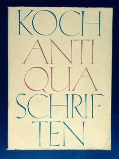 Antiqua-Schriften type specimen catalogue Koch-Antiqua and Initials after a design by Rudolf Koch, Gebr. Klingspor, Offenbach aM, 1930s