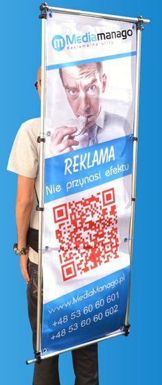 Wynajem sprzętu reklamowego, wynajem reklamy mobilnej - MediaManago.pl - Reklama noszona na plecach, rama do reklamy, backpack ad