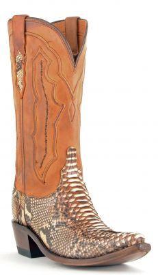 Womens Lucchese Python Boots Caramel #M5635 via @Chris Allen sutton Boots