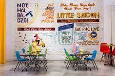 Little Saigon E11; Vietnamese; street-food; avocado sweets design; interior design