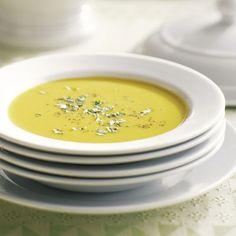 Soupe aux patates douces et au lait de coco Cantaloupe, Sweet Potato, Curry, Potatoes, Vegan, Cooking, Tableware, Ethnic Recipes, Kitchen