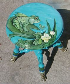Painted Frog stool