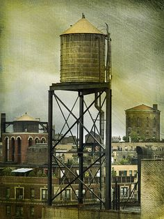 Water Tower - New York by Kim Yokota,