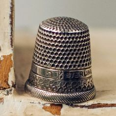 Vintage Thimble Sterling Silver by My3Chicks on Etsy, $25.00