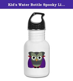 Kid's Water Bottle Spooky Little Owl Vampire Monster. Product Number: 0001-1618626474 Perfect for school lunches or soccer games, our kid's stainless steel water bottle quenches children's thirst for individuality. Personalized for what kids love, it's both eco-friendly and compact. Made of 18/8, food-grade stainless steel. * No lining & no BPA or other toxins * Wide mouth for easy drinking * Durable, BPA-free & phalate-free screw-on top * Holds 0.35L (nearly 12 ounces) * Thin profile to…
