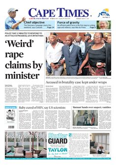 News making headlines:   'Weird' rape claims by minister
