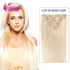 Aliexpress Buy Clip In Human Hair Extensions 7A Brazilian Silky Straight 7pcs 8pcs African American I