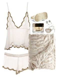 """""""sleep goals"""" by juliaparmartin ❤ liked on Polyvore featuring Chantelle, Chanel and Iluminage"""