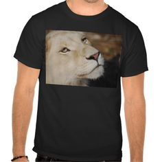 Shop A gentle lion face South Africa T-Shirt created by laureenr. Lion Shirt, T Shirt, Mountain Lion, Lions, South Africa, Face, Mens Tops, Board, Tee
