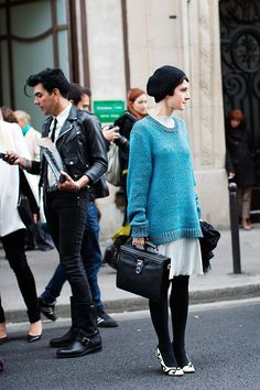 Paris  via the  sartorialist