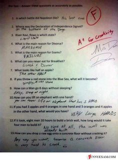 Hilarious! lol definitely an A for creativity.